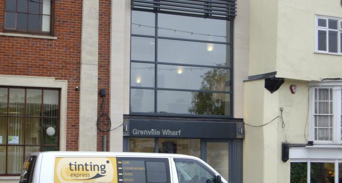 Neutral 30 solar window film application Grenville Wharf Bideford Devon Tinting Express Ltd