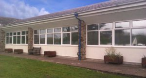 Silver 20 solar window film application Grenville College Bideford Devon Tinting Express Ltd
