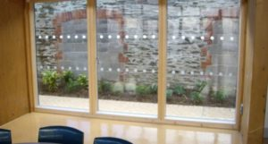 Manifestation applied to panes of glass at a school in Braunton North Devon Tinting Express Ltd
