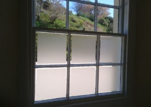 Frosted window film in cloakroom South Molton Devon Tinting Express