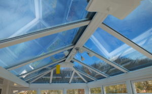 Glass conservatory roof solar window film Dual 15 Fremington Barnstaple Devon