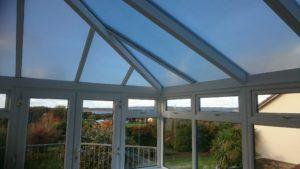 Conservatory roof window film. Coolkote film. Instow North Devon Tinting Express Barnstaple