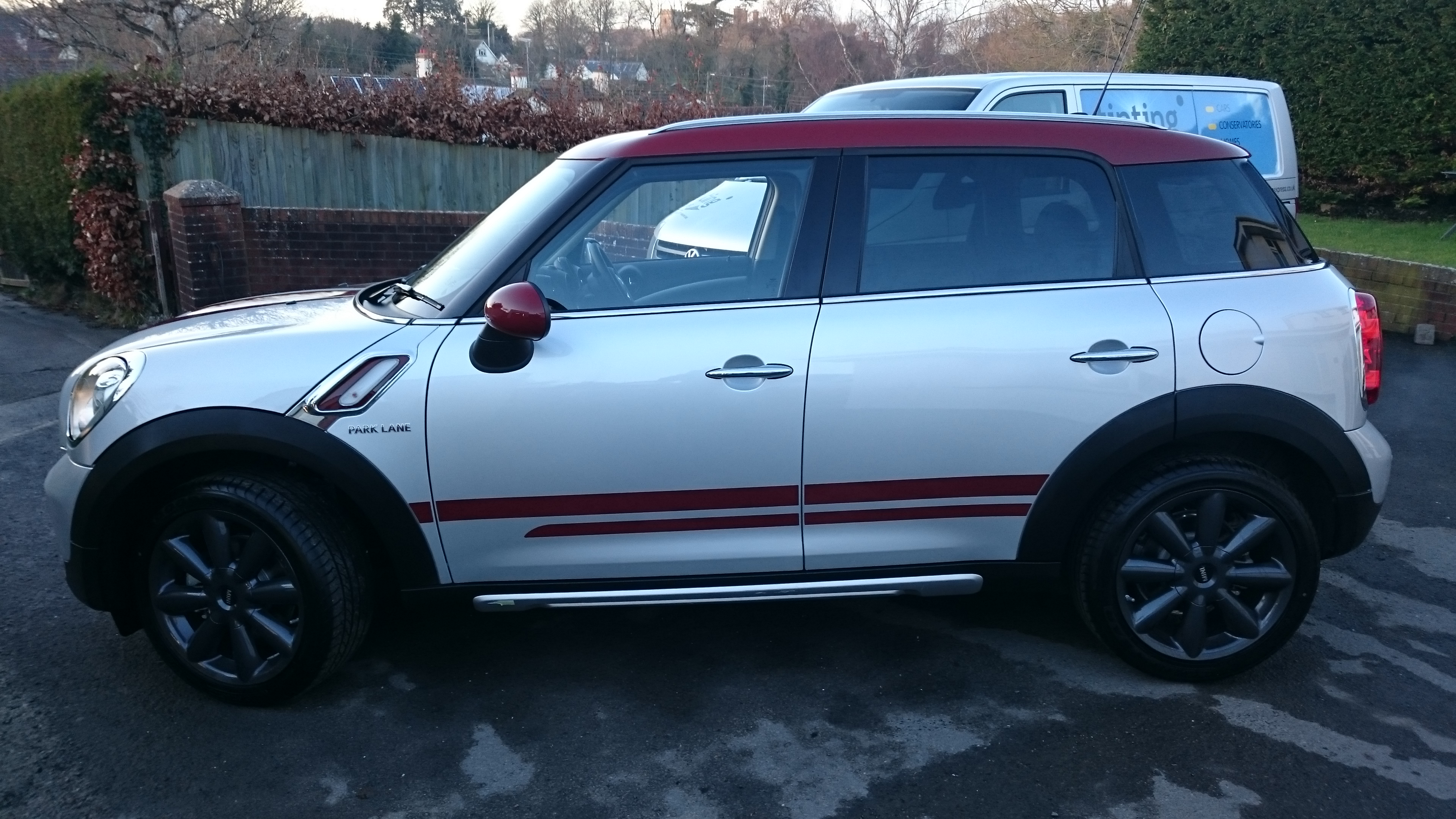 Mini Countryman window tinting . Barnstaple's Tinting Express Ltd
