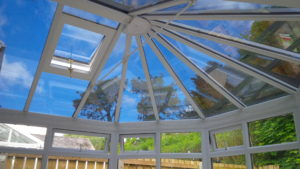 Conservatory roof solar window film application Redruth Cornwall Tinting Express Ltd