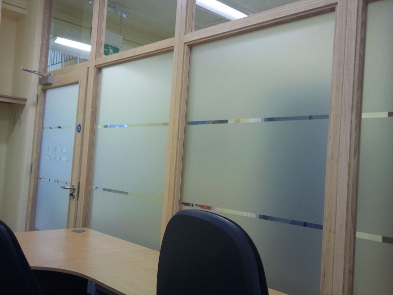Office frosted film partitioning for privacy purposes Tinting Express Ltd
