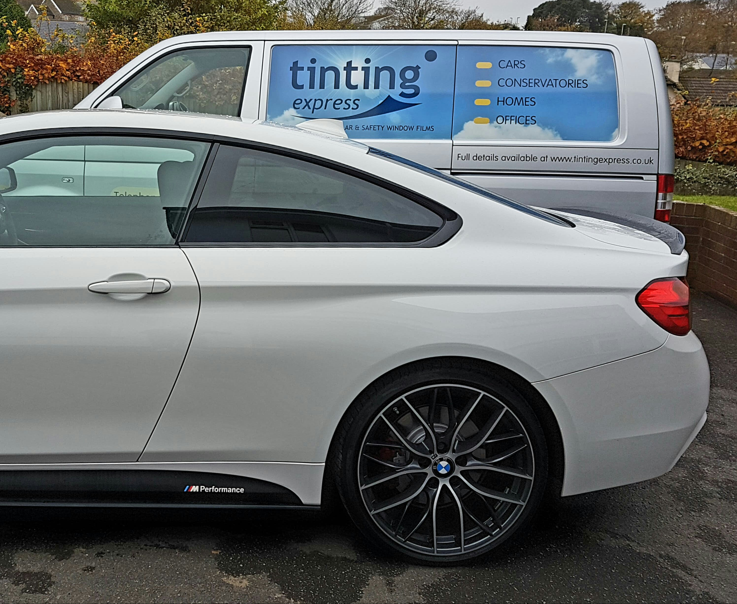 BMW 4 Series window tinting Tinting Express Barnstaple