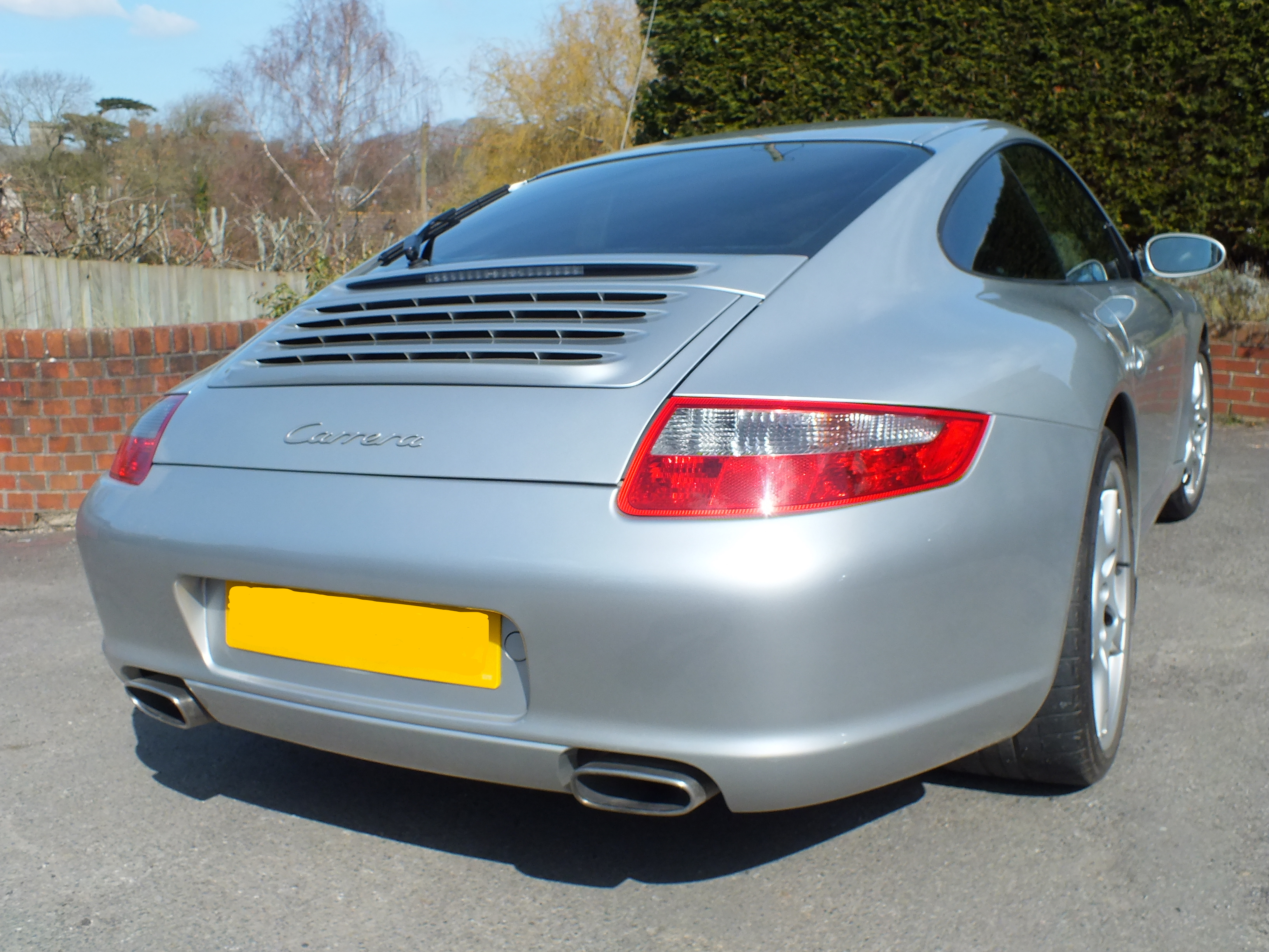Porsche Carrera at Tinting Express Barnstaple North Devon's No.1 car tinting service