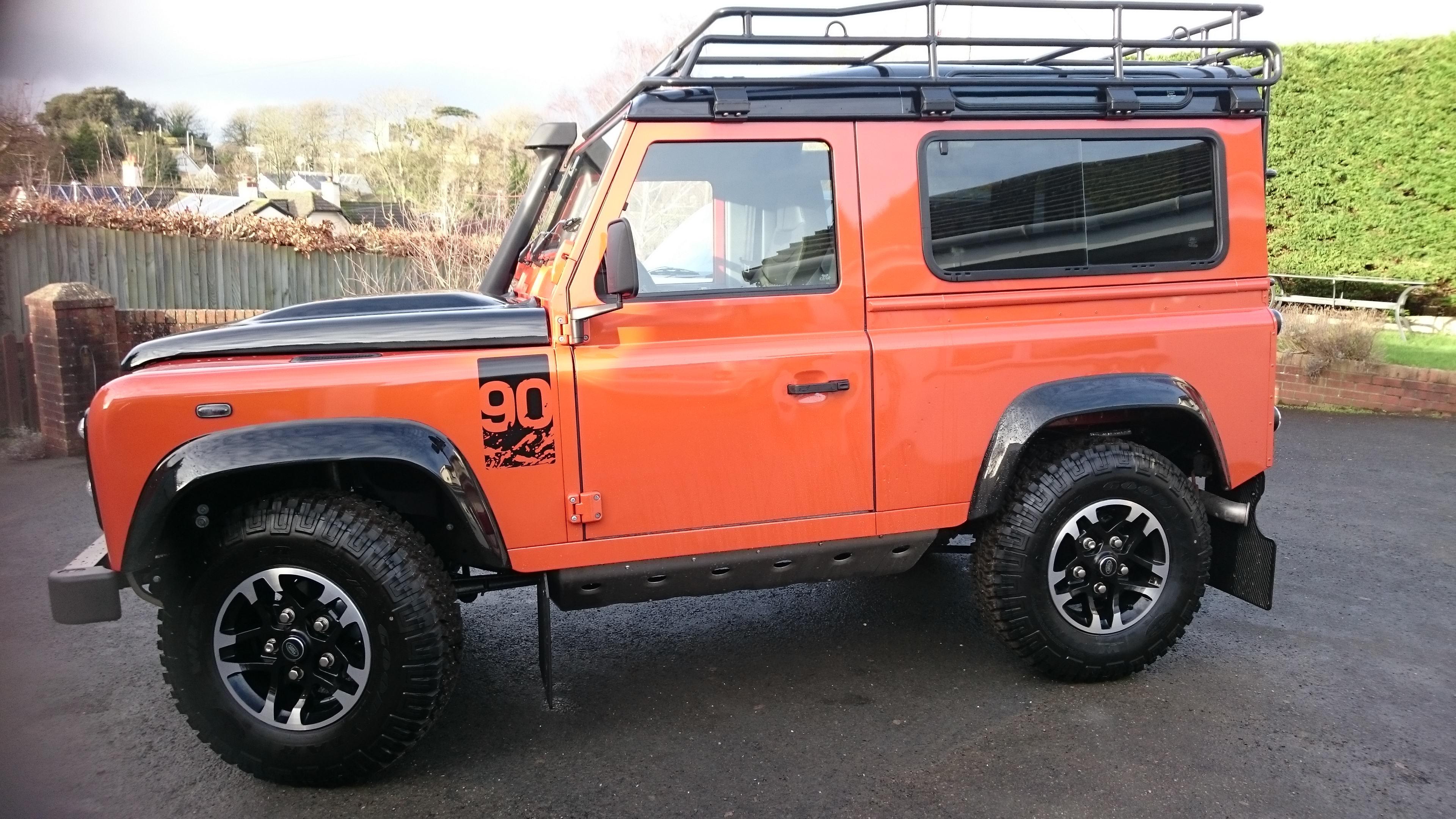 Landy 90 auto window tint Tinting Express Barnstaple Devon