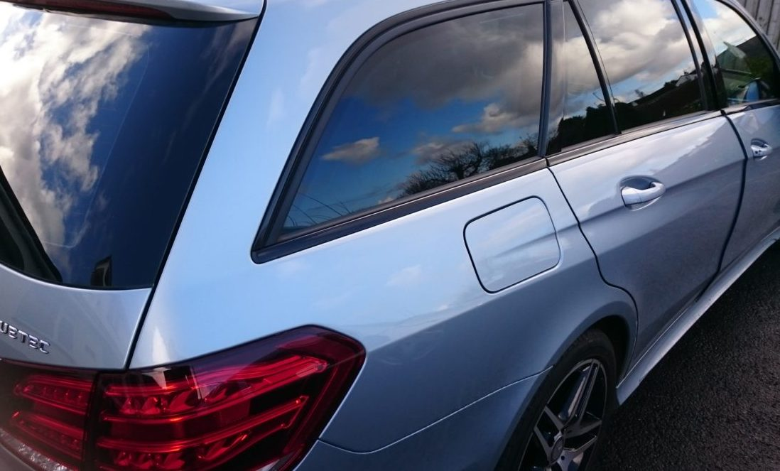 Mercedes E Class Estate car window tinting Tinting Express Barnstaple Devon