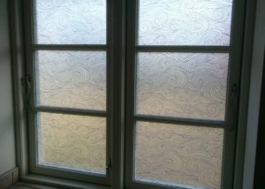 Wave pattern frosted window film Barnstaple Devon Tinting Express