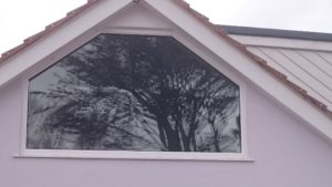 Bedroom window privacy film required for a bedroom window in Northam Bideford Devon. Tinting Express Ltd