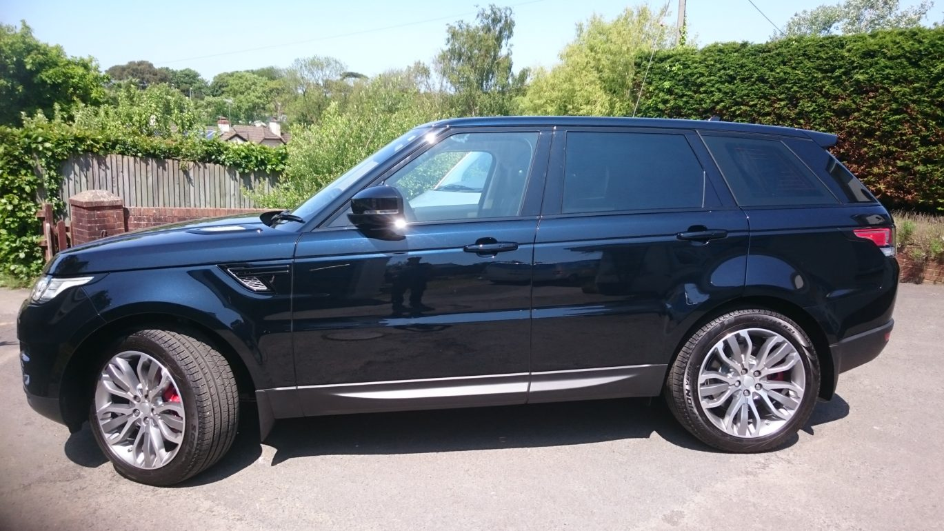 Range Rover with a 20% grade film applied, which means 80% light loss. Tinting Express Ltd