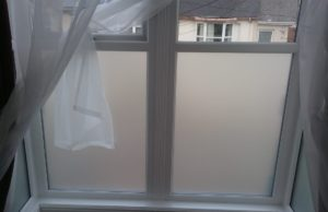 Bedroom window frosted window film Bideford Devon Tinting Express