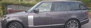 Range Rover window tinting job . Fremington Barnstaple Devon