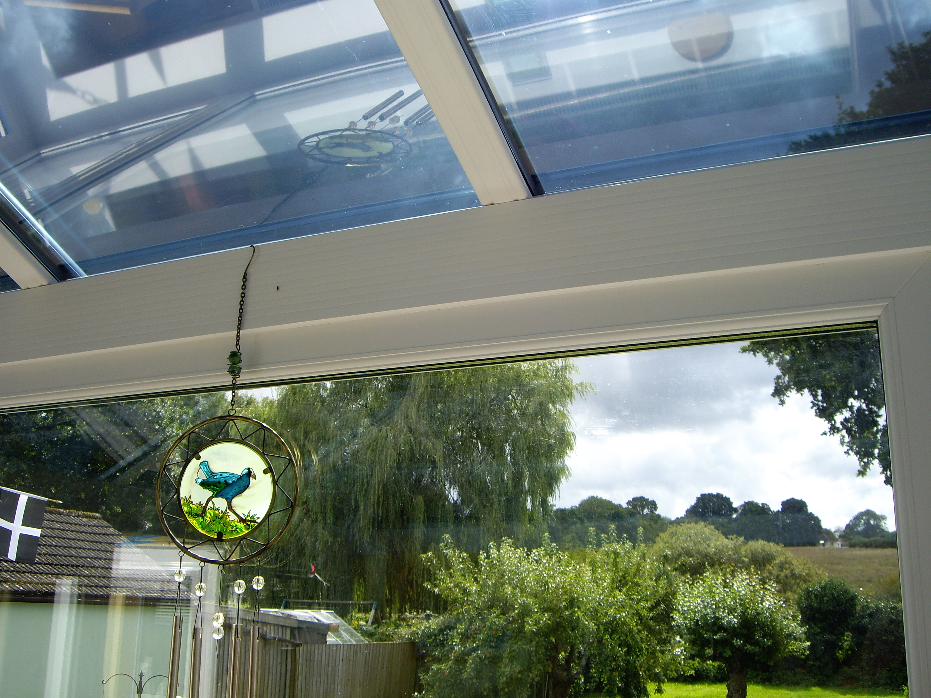 Conservatory roof Dual 15 solar window film application Kingskerswell Newton Abbot South Devon Tinting Express Barnstaple