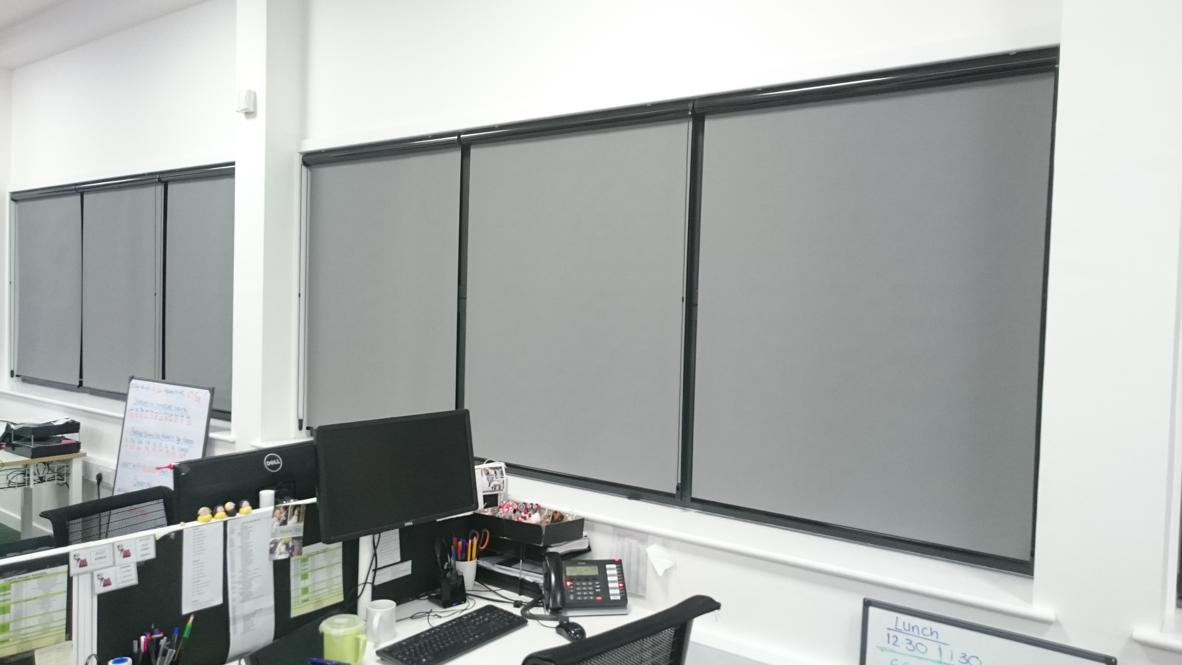 Office window roller blinds Tinting Express Ltd Barnstaple Devon