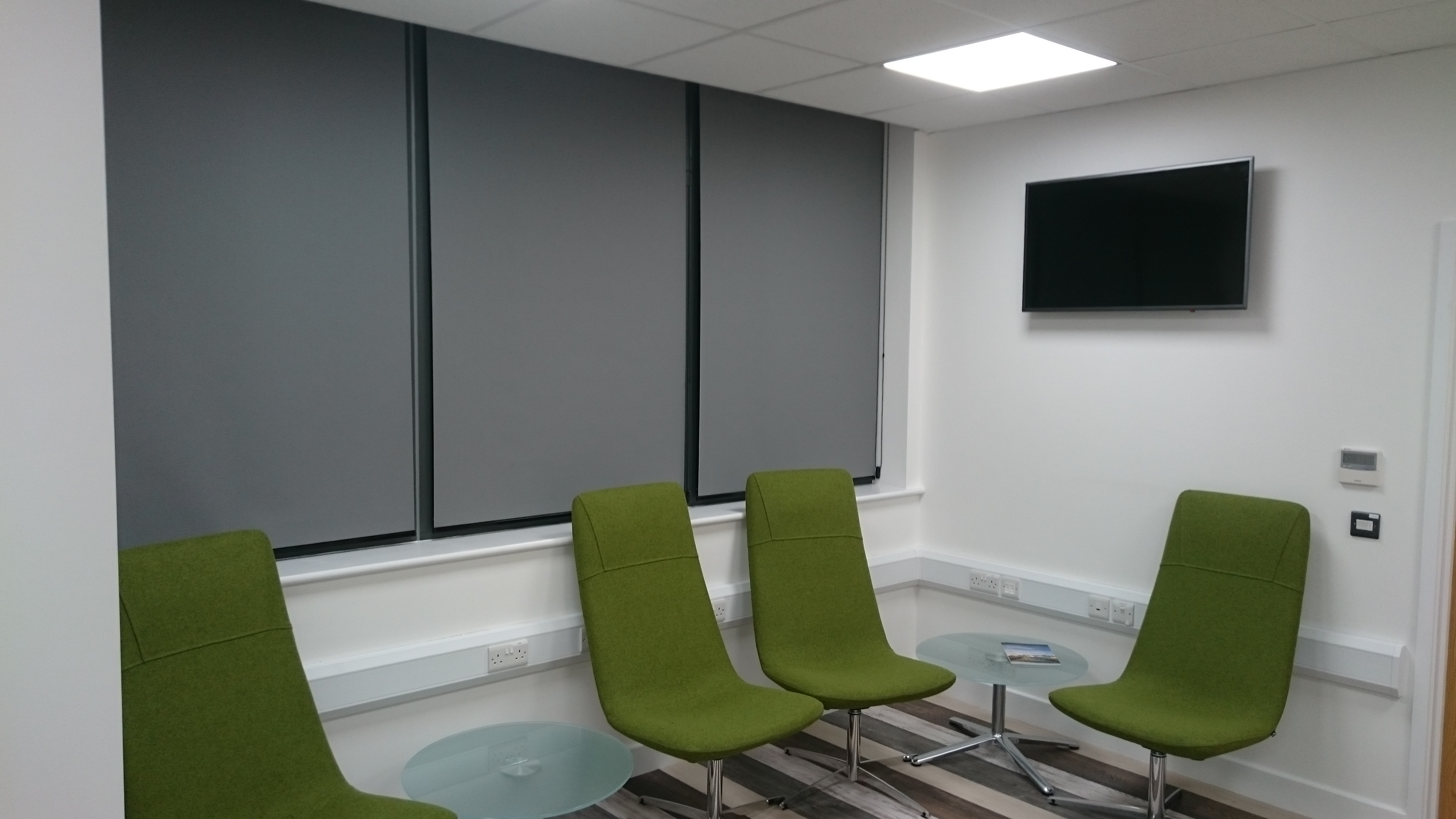 Reception window blinds Devon Tinting Express Devon