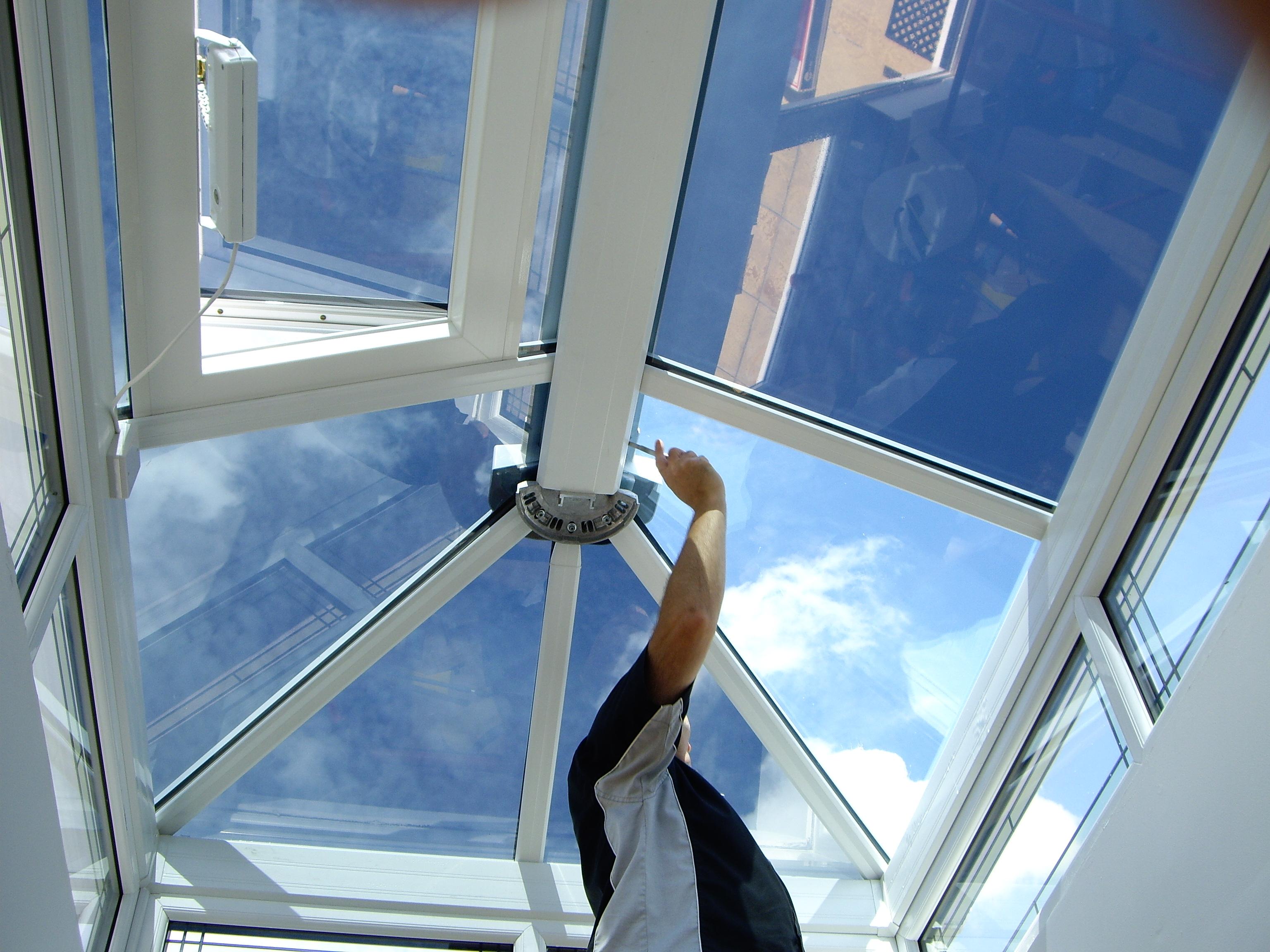 Lantern Conservatory window film installation Torquay Devon Dual 22 Tinting Express Ltd Barnstaple