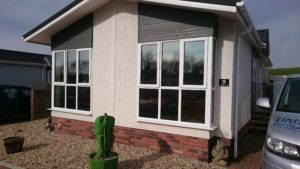 Lounge window tinting Neutral 30 on a lodge in Devon. Tinting Express Ltd