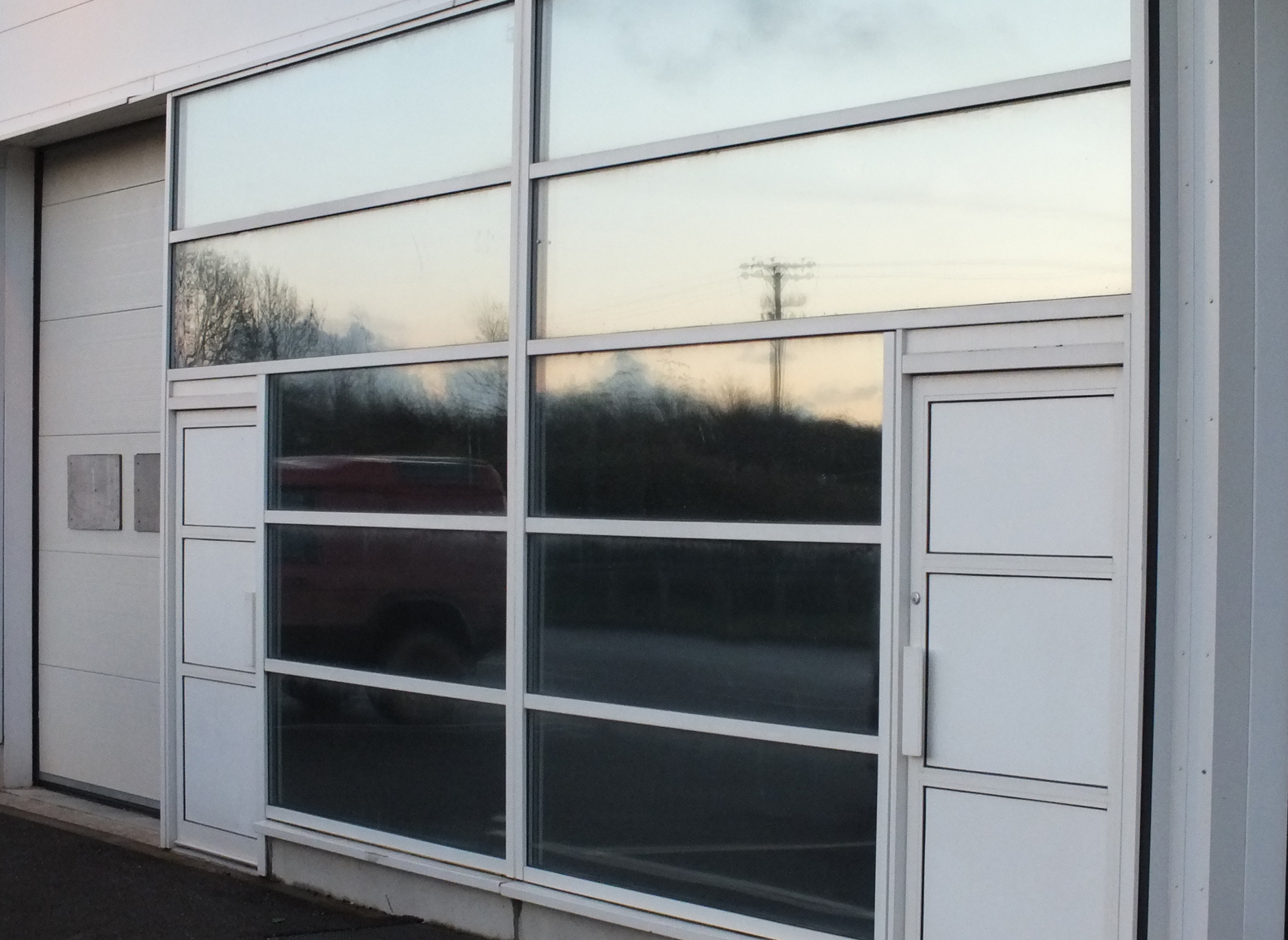 Silver Matte solar privacy window film applied to a unit in Braunton Devon Tinting Express