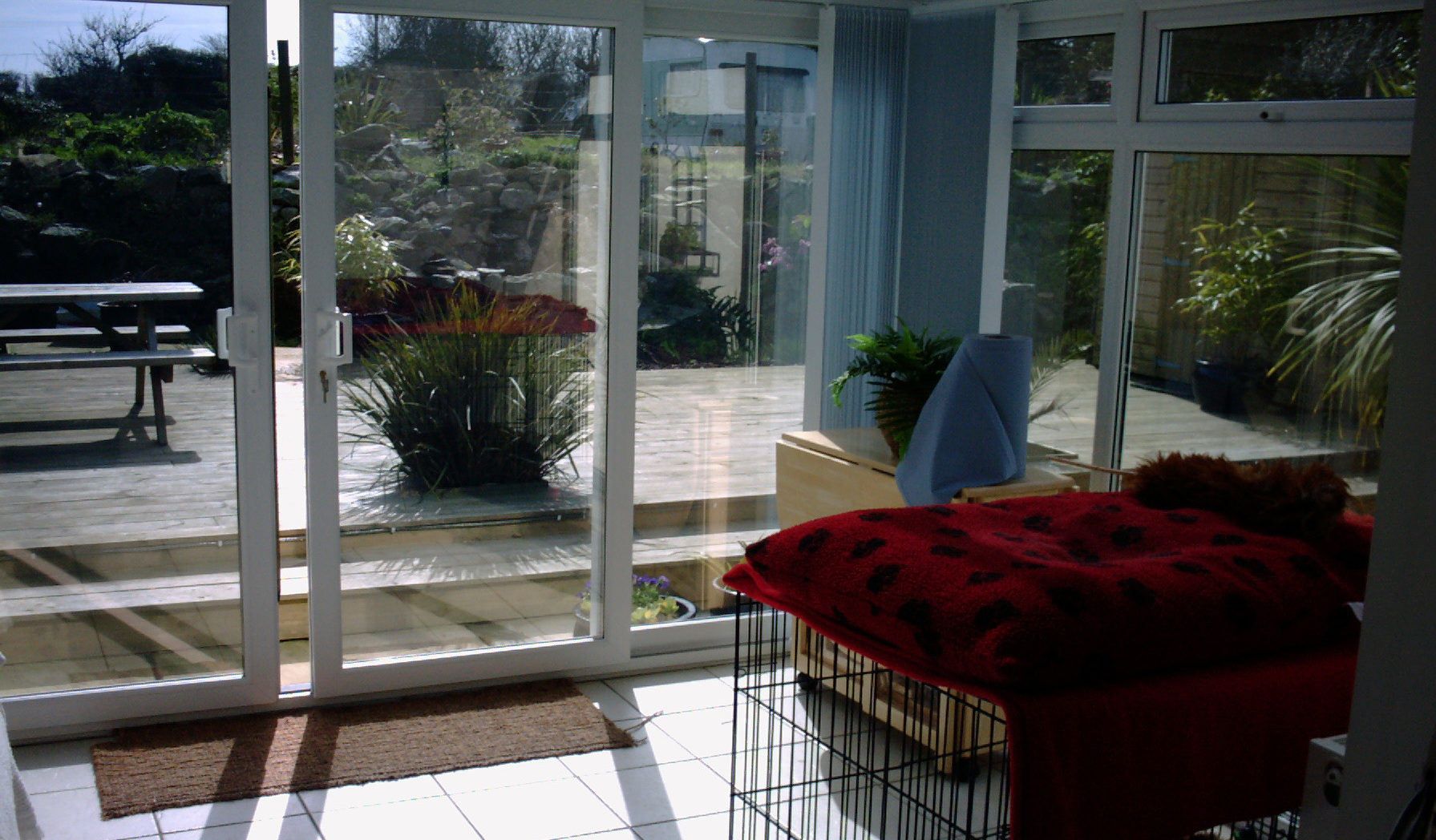 Carbis Bay Cornwall Conservatory vertical glass window tinting with solar film by Tinting Express Barnstaple Devon UK