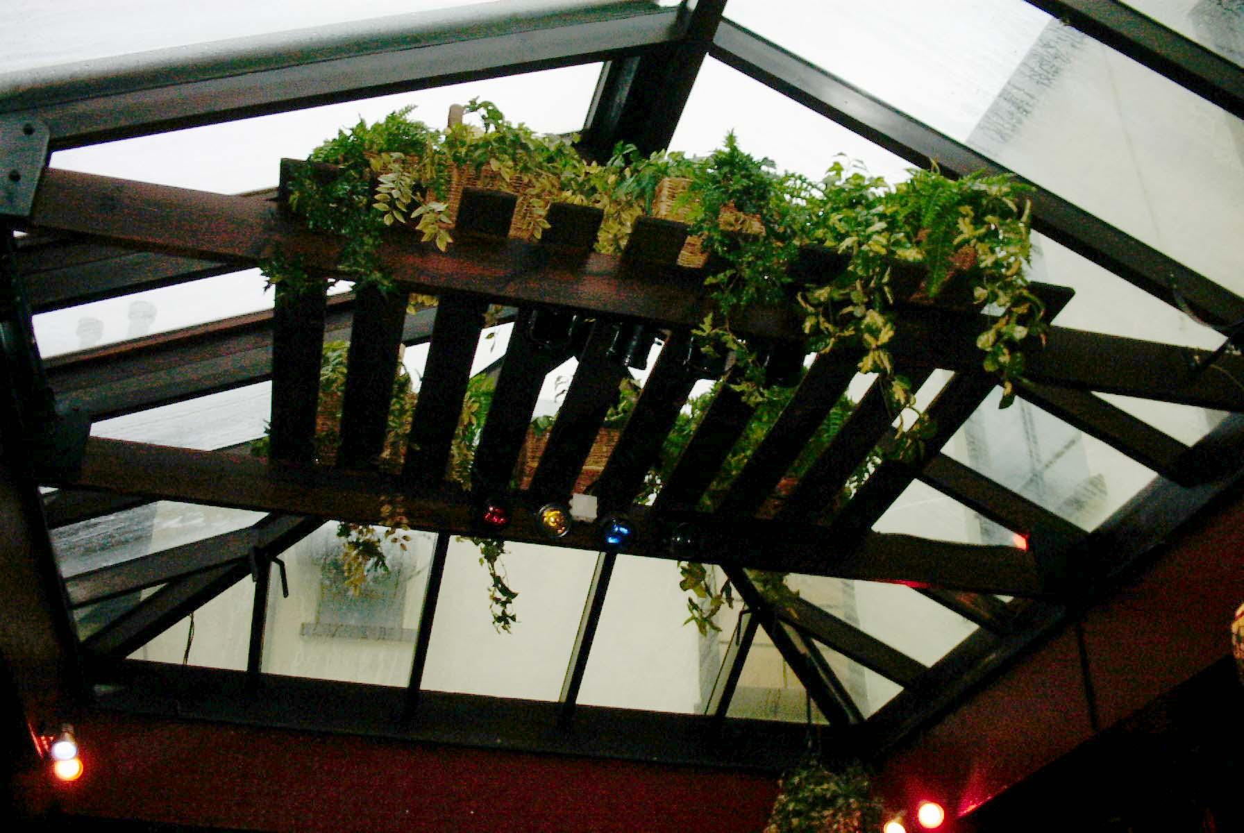Pub conservatory roof glass frosted window film Barnstaple Devon Tinting Express Ltd