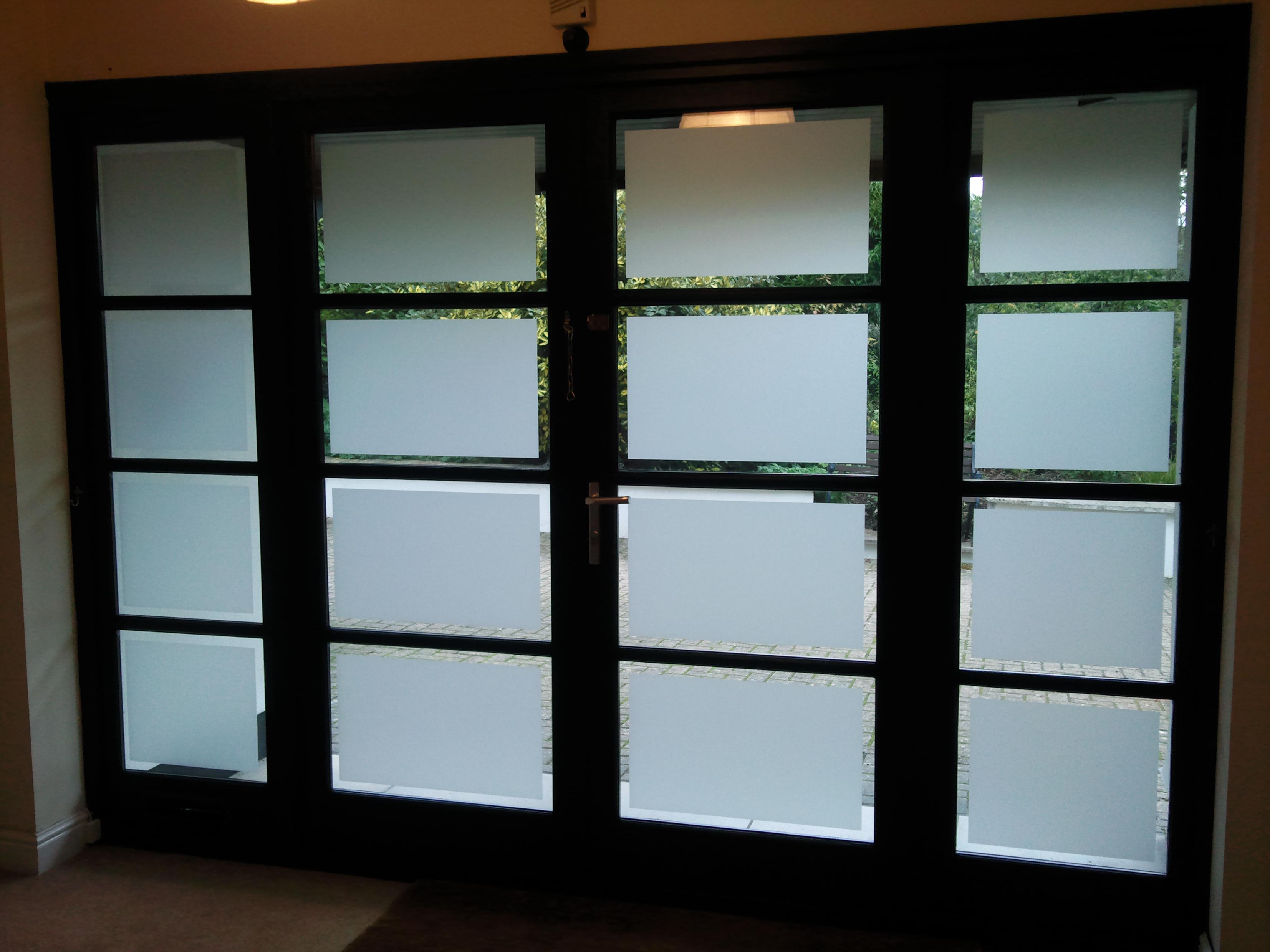Residential Frosted Window Film In Tiverton Devon