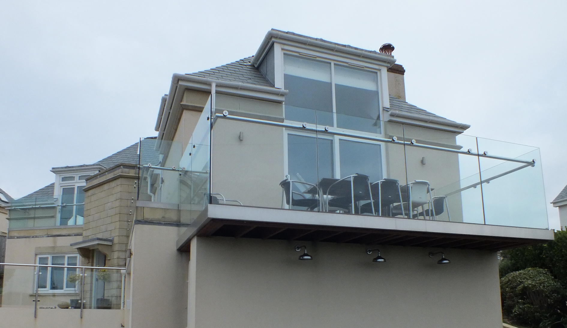 UV Protect solar window film applied to luxurious houses in Thurlestone South Devon UK Tinting Express Ltd