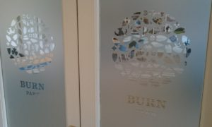 Burn Park Bude Cornwall frosted window film graphics Tinting Express Barnstaple