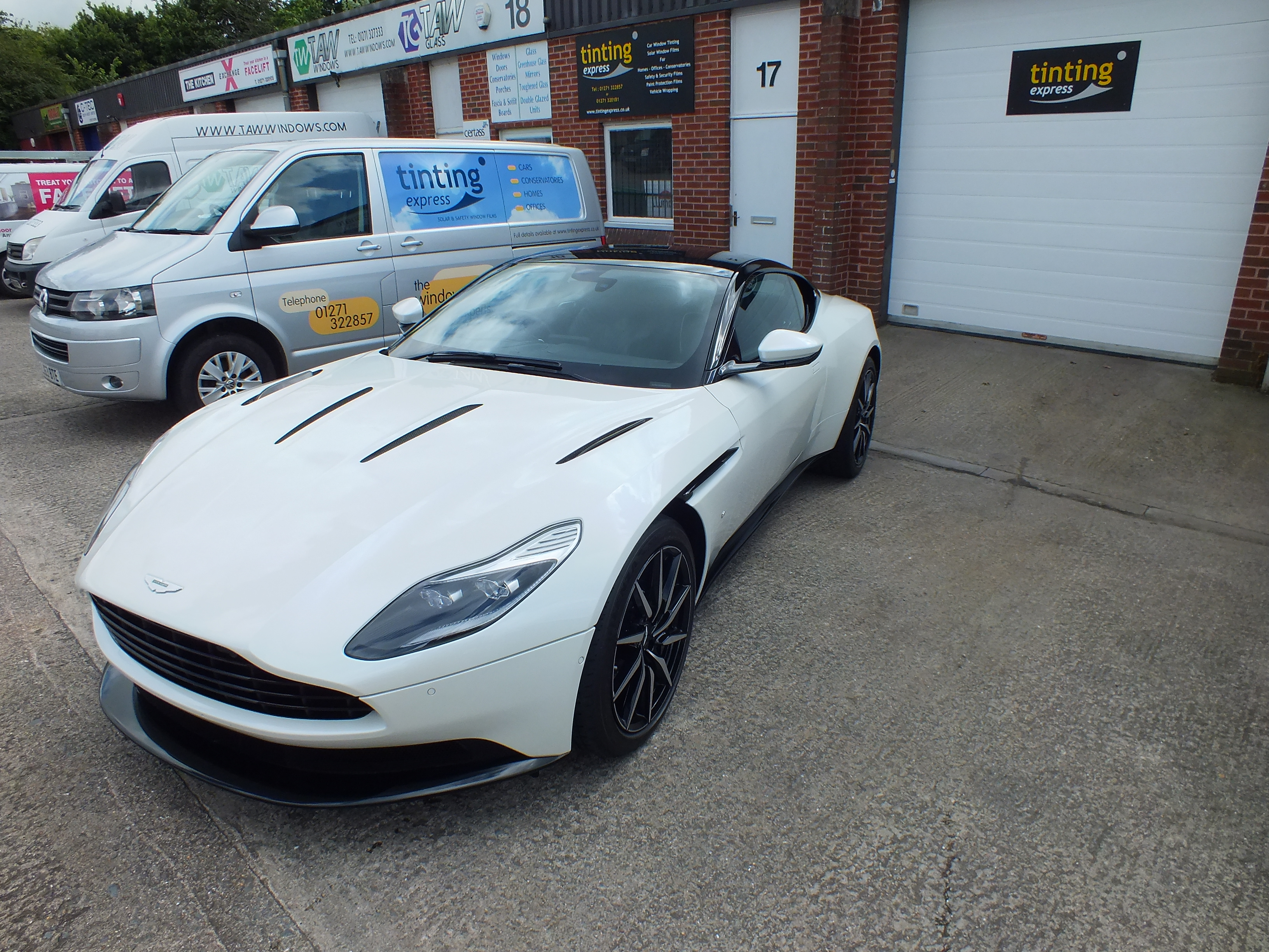 Completed Paint Protection Film application on a DB11 Aston Martin. Tinting Express Barnstaple