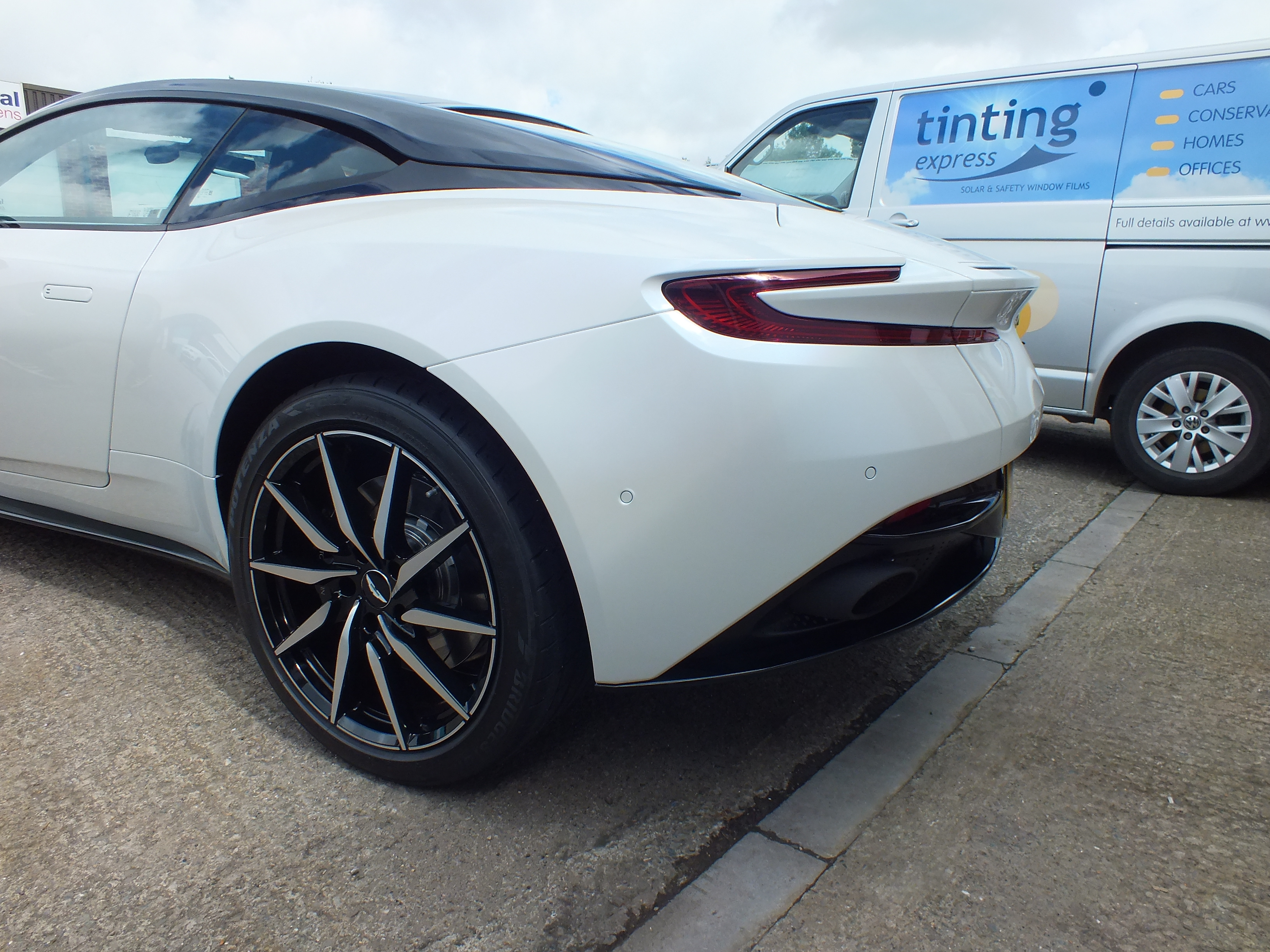 Completed rear quarter image of Aston Martin DB11. Paint Protection Films Barnstaple Devon