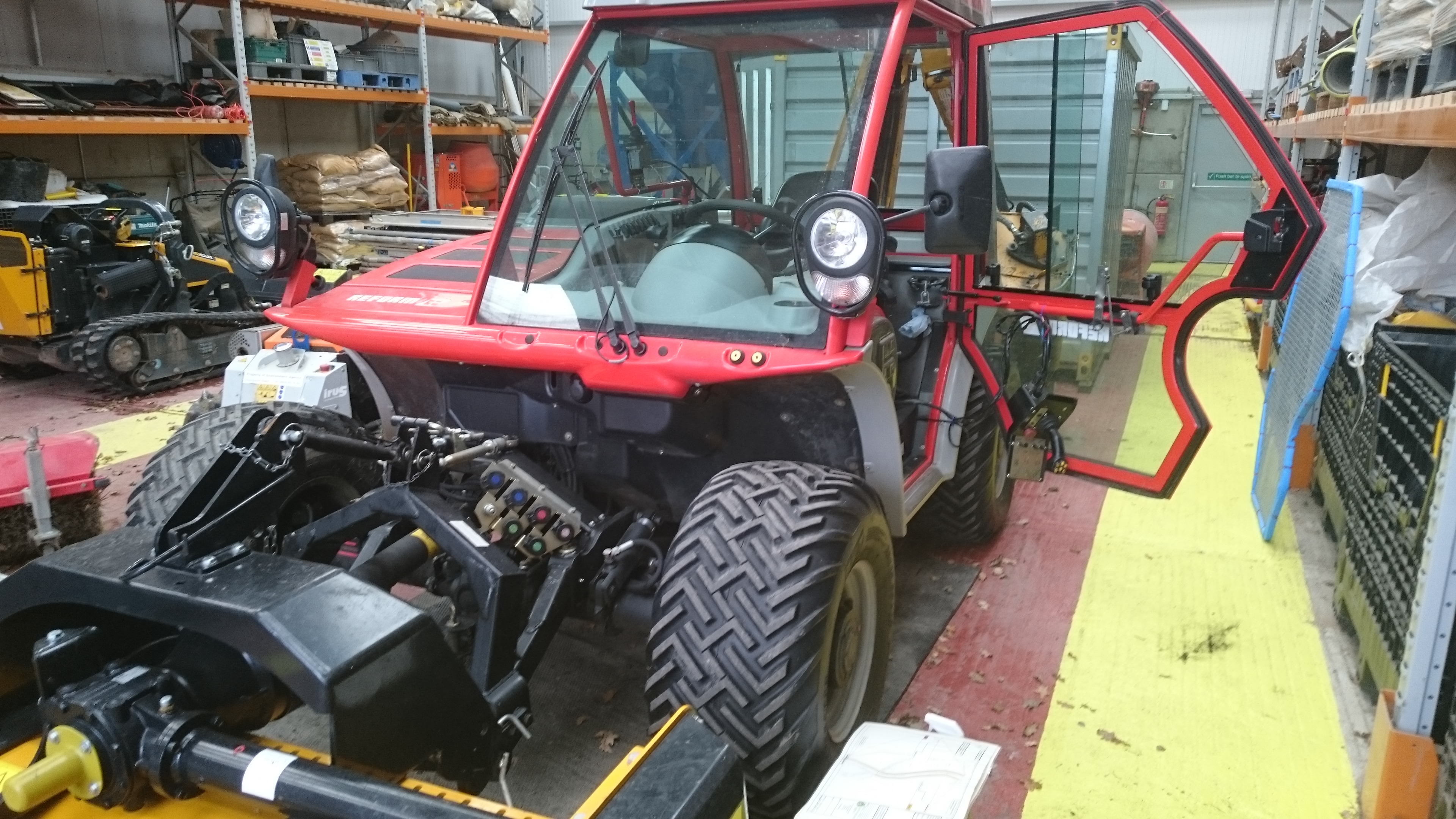 Reform tractor safety window film application to glass to strengthen by Tinting Express Devon