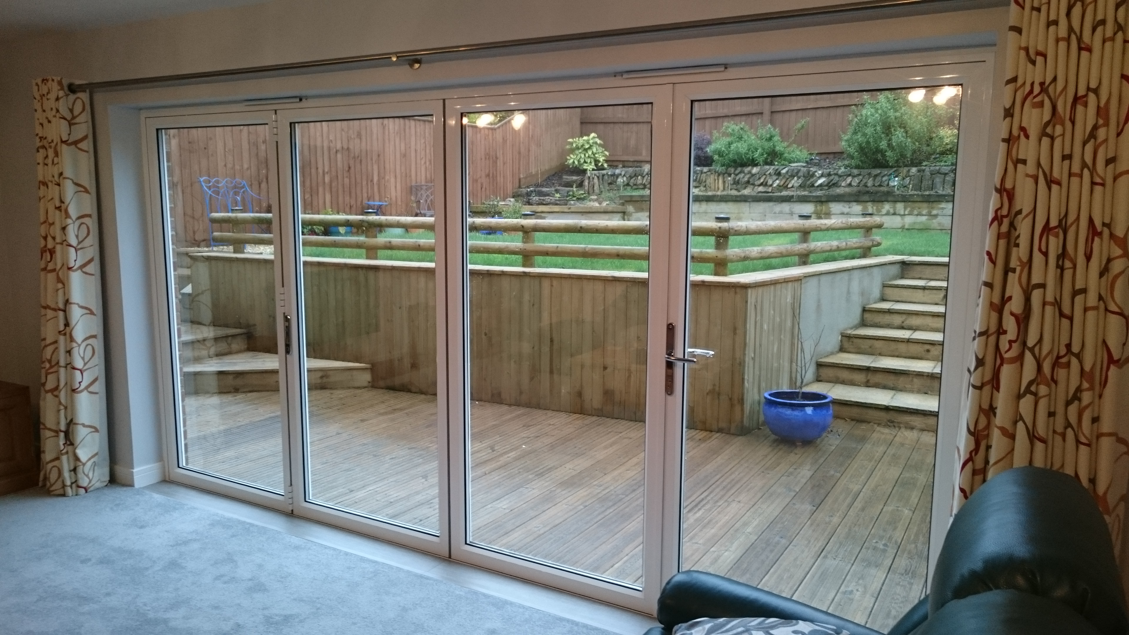 Natural 50 solar window film applied to bi-fold doors in Plymouth Devon by Tinting Express