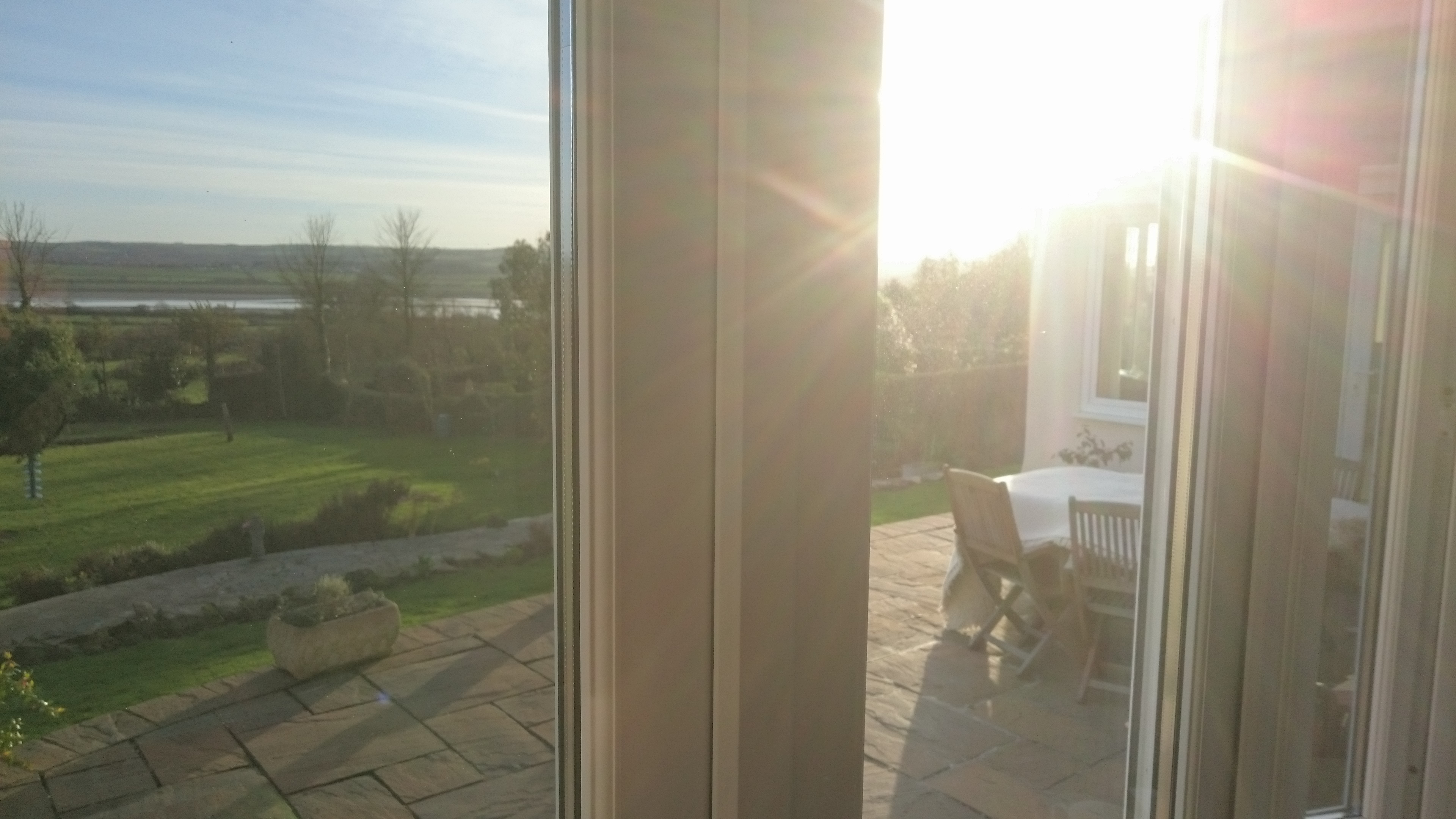 Sun glare and privacy issues in this bedroom Tinting Express Barnstaple