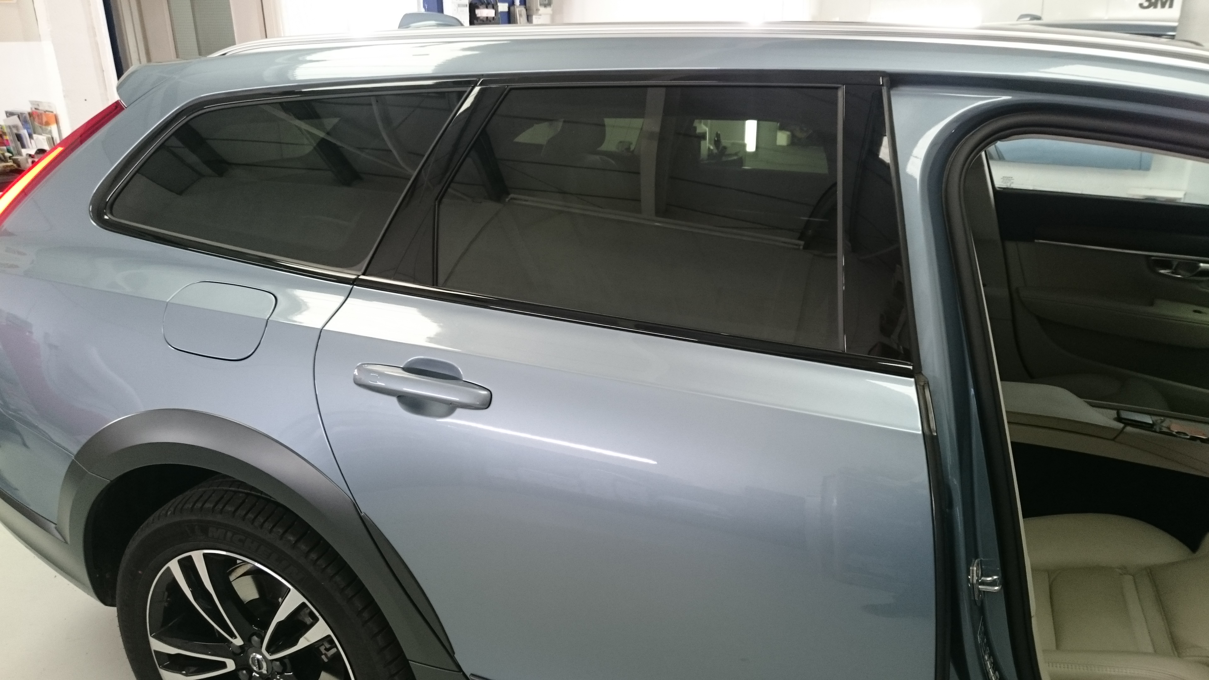 Volvo V90 window tints with Llumar ATC20 automotive window film. Tinting Express Barnstaple Devon