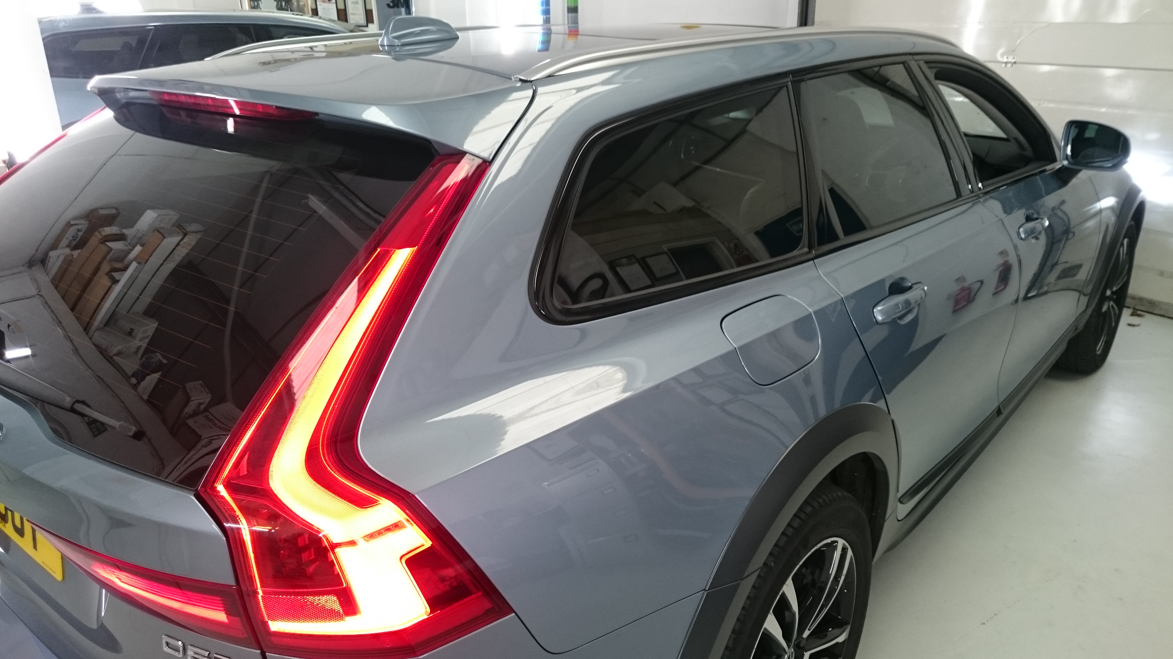 Volvo V90. Estate car window tinting in Barnstaple North Devon. Llumar ATC20 automotive window films. Tinting Express Barnstaple