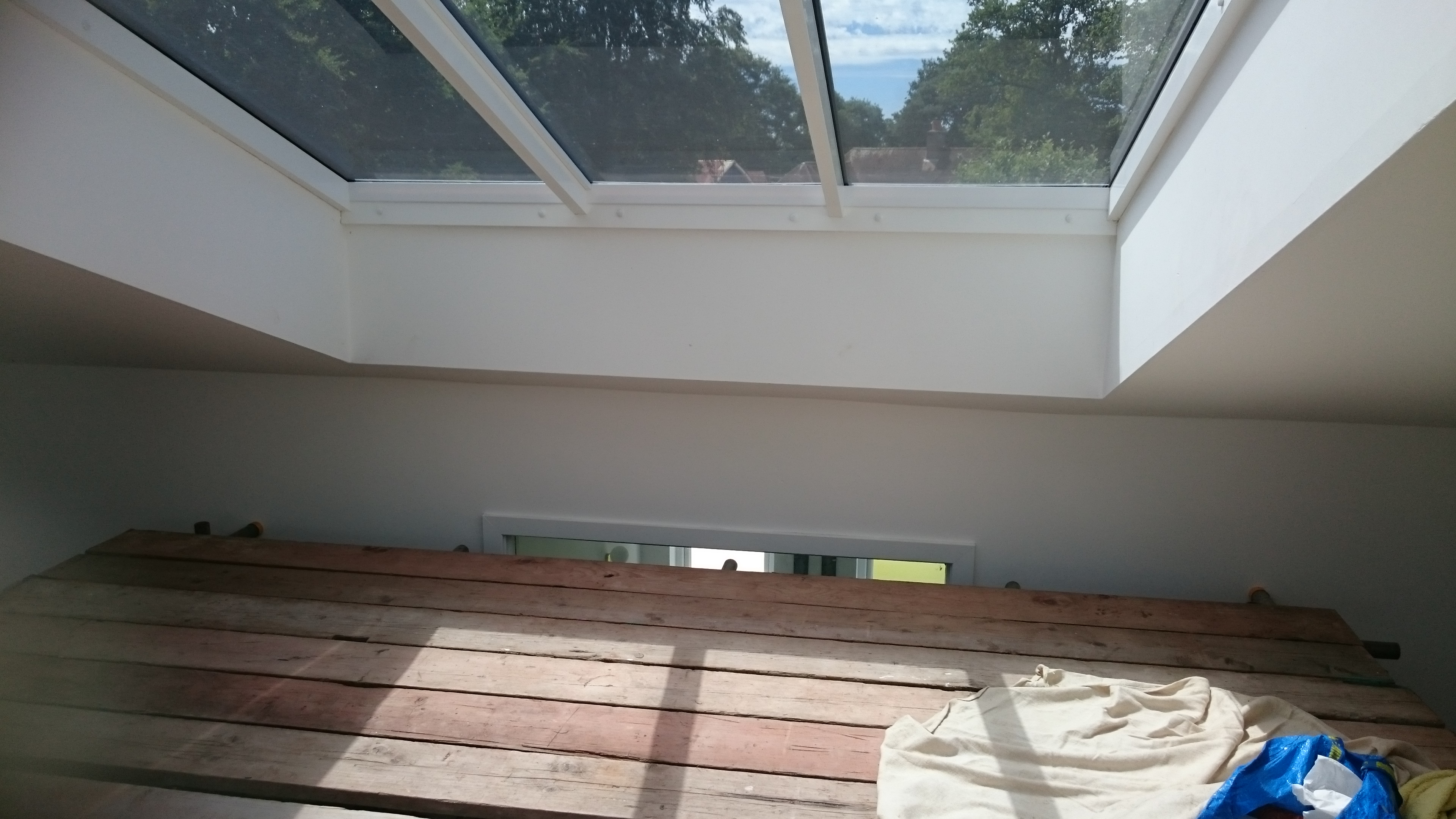 Solar film to be applied to glazing in this roof space - Tinting Express