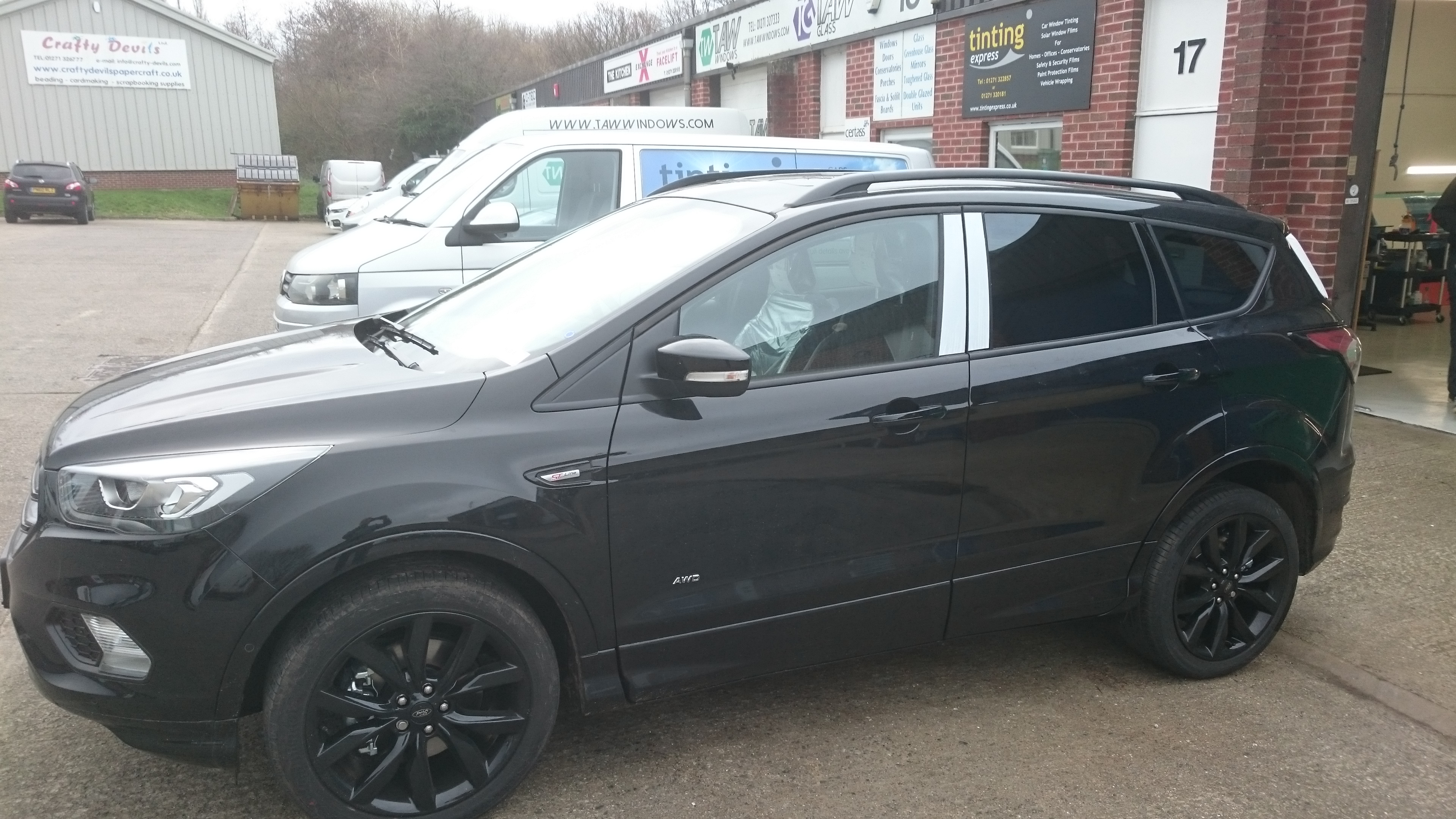 Ford Kuga fitted with Llumar ATC 20 window tints in Barnstaple by Tinting Express.