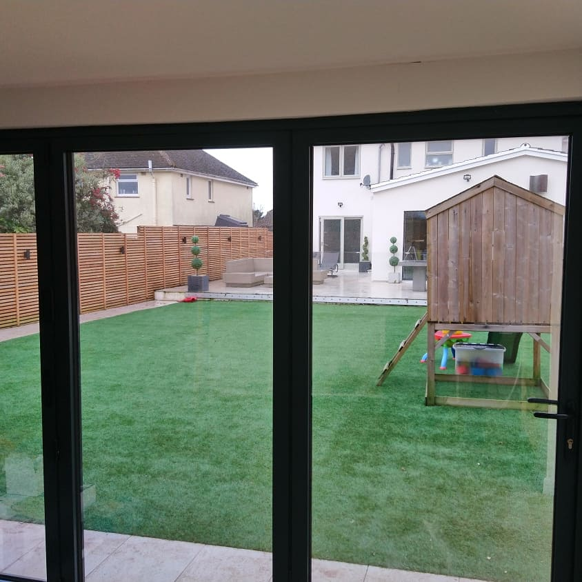 Internal view showing our Natural 40 solar window film. Whilst creating a shimmer on the glass on the outside with privacy and perfect clarity looking out from the inside. Tinting Express Exeter Devon