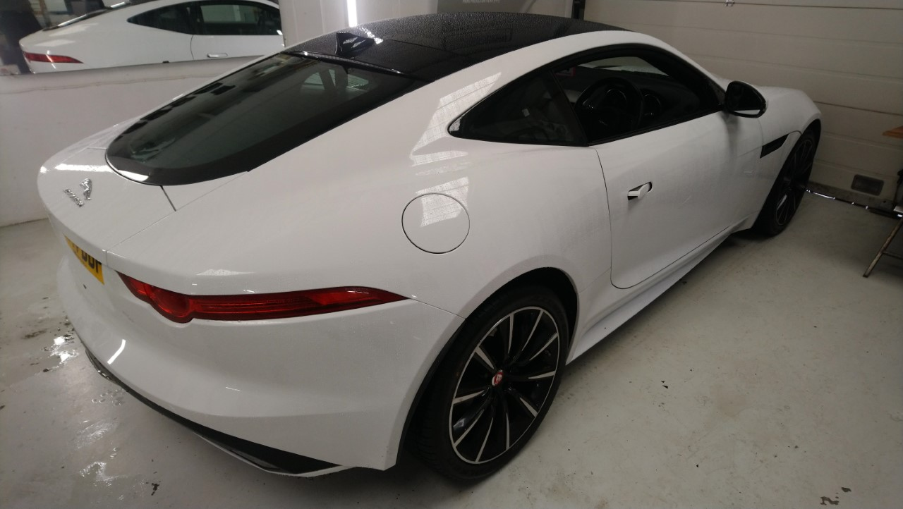 Jaguar F Type window tints and rear light tinting by Tinting Express Barnstaple