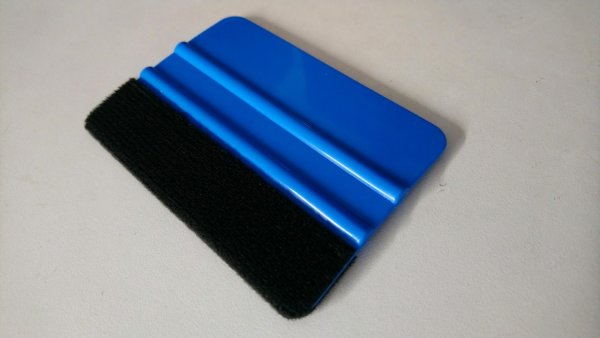 Pro Squeegee Felt Edge Vinyl Applicator Tool : For sign decal or car wrap : large blue