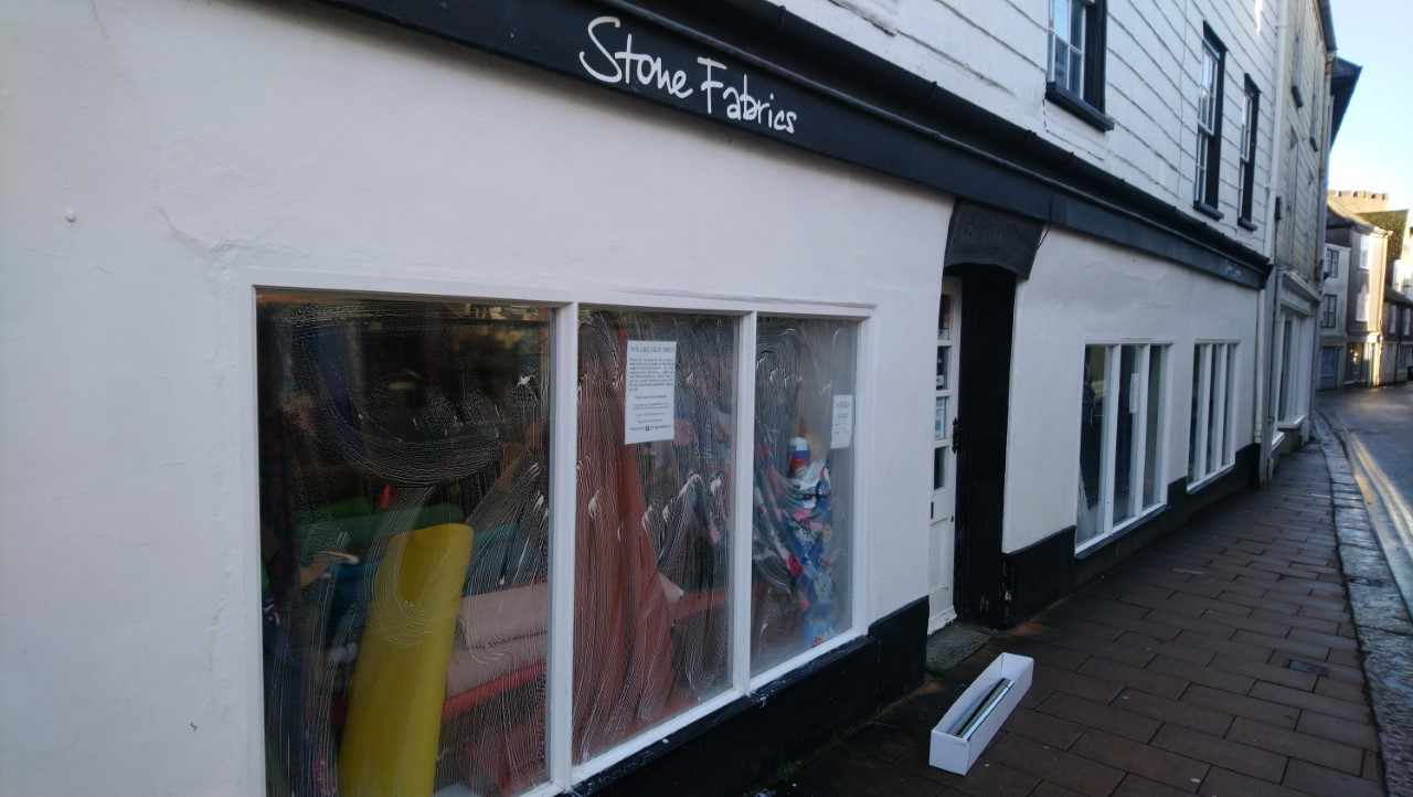 Spectrum 70 External Solar Control Film applied to shop windows in Totnes South Devon by Tinting Express.